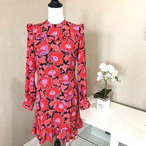 Who What Wear Ruffle Printed Dress